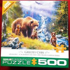 EUROGRAPHICS Puzzle COUNTRY DRIVE  Large Pc 500 bear Grizzly Cubs Jan Patric
