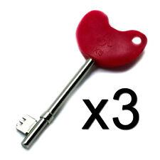 3x NEW Disabled Toilet Key Genuine Radar NKS for Bathrooms Pubs Cafes Parks x3