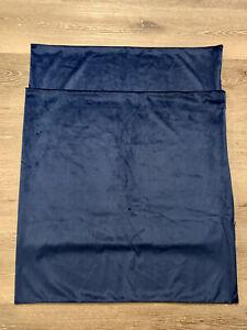 "New 2pc Set Navy Blue Throw Pillow Case Covers Shams 24"" X 24""  Soft Plush"