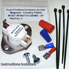 MagnuM Country Flame Mf3537 Rp2045 Ceramic Proof of Fire Switch + Instructions