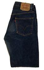 Levi's 505 Dark Blue Regular Fit Straight Leg Red Tab Men's Jeans Size 30 X 32