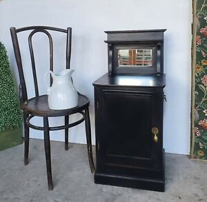 French Style Black Painted Bedside cabinet