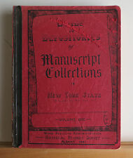 Guide to Depositories of Manuscript Collections in New York State 1941 WPA