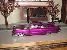 Nice 1/24 JADA Dub City 1959 Cadillac Deville Lowrider Purple Dark Pink