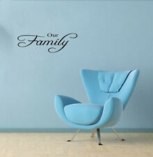 Our Family Vinyl Quote Wall Sticker Home Lettering Decal Removable House Decor