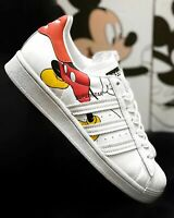 Adidas Superstar Disney Mickey Mouse White Red Shoes Sneaker Trainer All Sizes