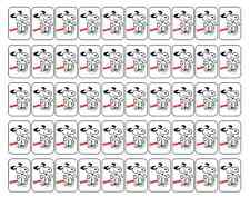 """50 Snoopy (Peanuts) Envelope Seals / Labels / Stickers, 1"""" by 1.5"""""""