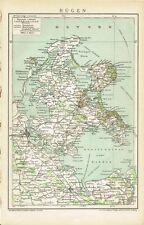 Karte von RÜGEN 1895 Original-Graphik