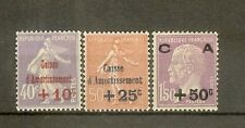 """FRANCE STAMP TIMBRE N° 249/51 """"CAISSE AMORTISSEMENT 2eme SERIE 1928"""" NEUF xx TTB"""
