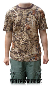 MDI Bug Repellent Short Sleeve Camo T-Shirt - Small -Ideal for Fishing & Hunting