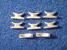 AM 08 Model Boat Fittings, White Metal Cleat  x  8