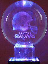 "3"" Diameter Crystal Ball NFL Football Seattle Seahawks"