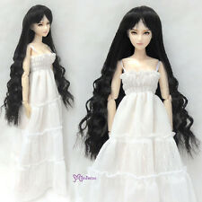 "Mimiwoo Obitsu 1/6 Bjd Heat Resistant 3.5""-4"" Doll Wig Long Wavy Braids Black"