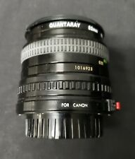 Quantaray Lens 2.8 F=28mm Multi Coated with 52mm filter for Canon