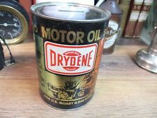 VINTAGE DRYDENE MOTOR OIL supreme XHD DRYDEN OIL CO  USA ADVERTISING BANK GOOD