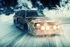Rally Audi Drift Sport Car Poster 24x36