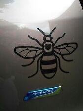 Manchester bee car sticker black 145mm x 115mm.