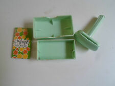 Vintage Retro Collectable Mint Green Ladies Nymph Safety Razor + Box + Blade