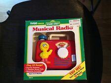 Vintage Big Bird Radio Music Box Toy by TYCO Sesame Street