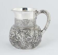 Tiffany & Co. Makers Sterling Silver Repousse Water Pitcher with Moor. Lot 125