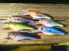 RAPALA  SHAD RAPS SR-7 CRANKBAIT SET 6 HOLOHRAPHIC CUSTOM PAINTED FISHING LURES