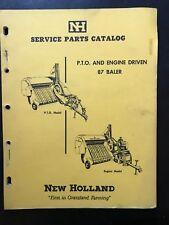 ORIG NEW HOLLAND MODEL 87 PTO & ENGINE DRIVEN BALER PARTS CATALOG MANUAL