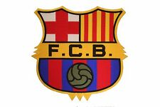 "FC BARCELONA FIFA SOCCER IRON-ON PATCH CREST BADGE SIZE 9"" X 8 3/4"" INCHES"