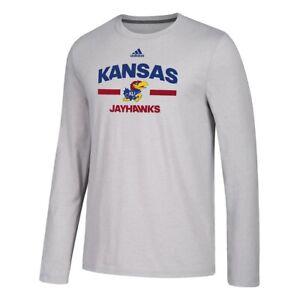 "Kansas Jayhawks NCAA Adidas Men's Grey Sideline ""Speed Arch"" Climalite T-Shirt"