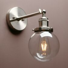 VINTAGE INDUSTRIAL GLOBE GLASS SCONCE FILAMENT BATHROOM KITCHEN BAR WALL LIGHT