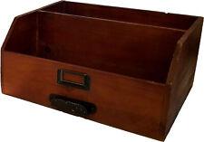 "Creative Co-Op DA7567 12"" X 10"" Home Decor Accent Wood and Metal Box Organizer"