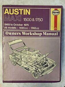Austin Maxi 1969-75 Haynes Workshop Manual 1485cc 1748cc