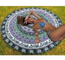Barmeri Indian Mandala Round Tapestry Wall Hanging Bedspread Sheet Throw Beach R