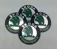 Skoda Emblem Wheel Centre Cap Sticker Logo Badge Wheel Trims 56mm Set of 4