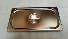lid, for 1/3 pan, w/handle, stainless, 3990494