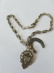 Victorian Silver Fob Chain With Fob