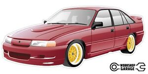 VN SS Group A Holden Commodore Sticka with Gold Rims