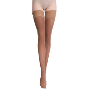 Women 80D High Stockings Hosiery Velvet Hold Up with Silicone Thigh High Club
