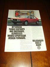 1980 VOLKSWAGEN VW SCIROCCO  ***ORIGINAL AD***