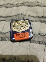 Vintage Ex - Lax Chocolate Laxative Free Sample 2 Tablets Tin Litho Advertising