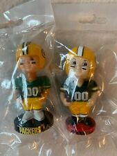 1990s Collectible Bobbleheads (2) Green Bay Packers  Nodders Vintage