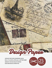 Design Paper Press-Vintage Postcard Scrapbook Paper