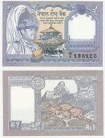 Nepal 1 Rupee 1991 P-37 UNC Uncirculated Banknote - Deer