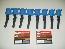SET OF 8 HEAVY DUTY IGNITION COIL BLUE DG508 & 8 MOTORCRAFT PLUGS SP479  NEW