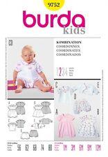 Burda Baby & Toddlers Easy Sewing Pattern 9752 Dress, Top, Dungarees, Jac...