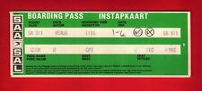 Airline Boarding Pass Instapkaart ~ SAA South African Airways - Cape Town: 1980s
