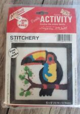 Vintage 1980 McNeill Stitchery 1552 Toucan Needle works 5x5 Easy and Fun Family