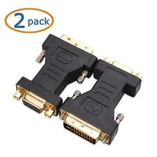 Cable Matters 2 Pack, DVI-I Dual Link to VGA Male to Female Adapter