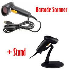 Portable USB Laser Gun Bar Code Label Scanner With Stand Holder Handheld Scan