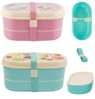 Kids Childrens Plastic Bento Lunch Boxes - Snacks Packed Lunch - Sass and Belle