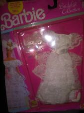 Vintage 1990 Barbie Doll Bridal Collection wedding dress clothing New